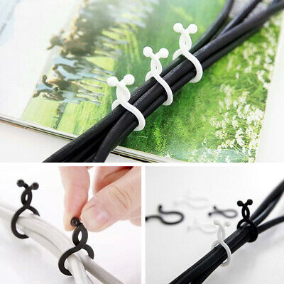 20pcs Home Office Adjustable Portable Storage Tools Winding Practical Cable Clip