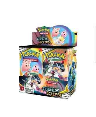 Pokemon TCG Sun & Moon Cosmic Eclipse Booster Box SM12 NIB Trading Card Game