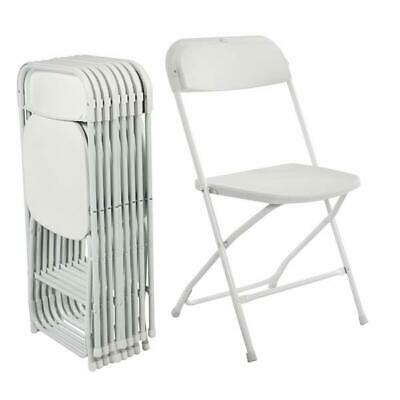 5 Pack Folding Chairs Commercial Wedding Event Party Rental  Stackable Plastic