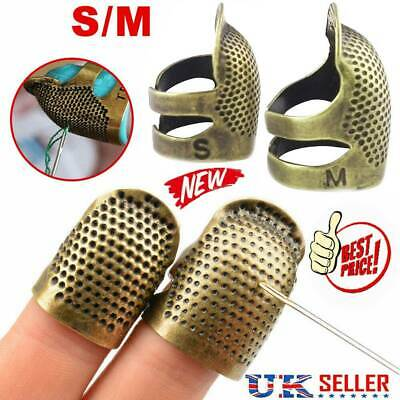 Adjustable Sewing Tools Finger Protector Practical Retro Metal Copper Thimble UK