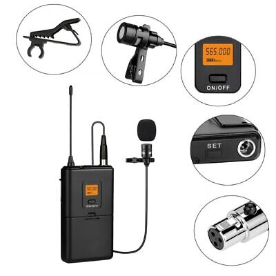 UHF Wireless Lavalier Lapel MICROPHONE SYSTEM-BODYPACK TRANSMITTER 20-Channel
