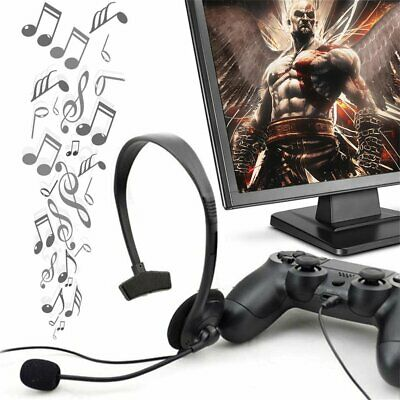 Portable Black Wired Gaming Game Headset Earphone For Playstation PS4 With VOL