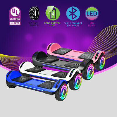 "6.5"" Bluetooth Hoverboard Self Balance Electric Scooter UL No Bag LED Gift Kids"
