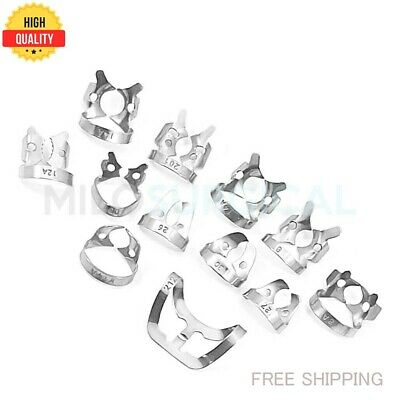 Set of 12 - Dental Rubber Dam Clamp Endodontic Surgical Instruments