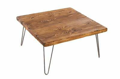 Square Coffee Table made from solid wood handmade,steel Hairpin legs 45 cm tall
