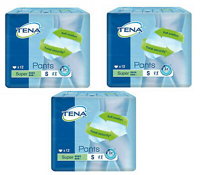 Case Saver 3 Packs Tena Pants Super Small 36 Pull On Underpants Incontinence aid