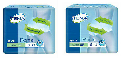 Case Saver 2 Packs Tena Pants Super Small 24 Pull On Underpants Incontinence aid