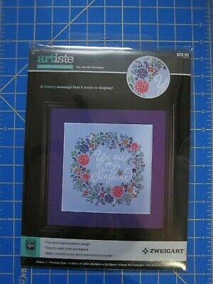 """ARTISTE COUNTED CROSS STITCH KIT /""""PEACOCK/"""" PEAR TREE BRANCH 8X23¾ SEALED NEW"""