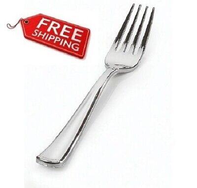 Silver Secrets Full Size Extra Heavy Plastic Forks 24ct.