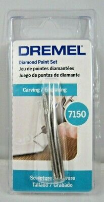 "Dremel 7150 Diamond Wheel Point Set 1/8"" (7103 & 7144) Carving/Engraving"