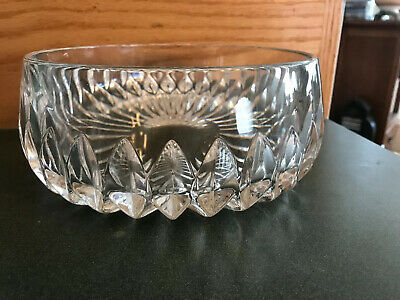 "Gorham Nachtmann Althea 7 1/2"" Lead Crystal Serving Bowl"