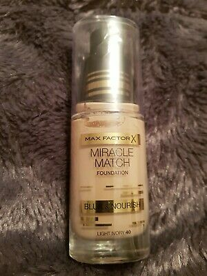 Max Factor Miracle Match Foundation - Blur And Nourish - Light Ivory 40.