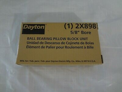 "DAYTON 2X898 Pillow Block Bearing,Ball,5/8"" Bore"