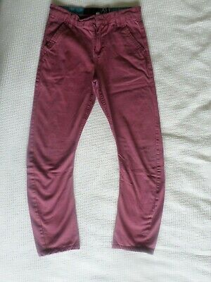 Boys twisted leg jeans age 10-11 years rusty red colour good condition
