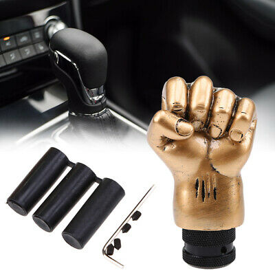 Fiat Uni Car Gear Shift Knob Black Leather Shifter Lever Stick Cover Auto Truck