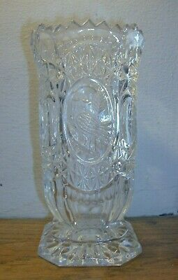 "Hofbauer Byrdes Crystal Square Footed Vase - 6"" Tall"