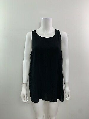 Old Navy Women's Size XL Scoop Neck Keyhole Back Sleeveless Solid Black Blouse