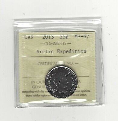 2013 Canada, Arctic Expedition  ¢25 ICCS Graded **MS-67 Finish B**