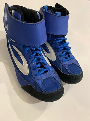 YOUTH Infinity Wrestling SHOES SZ 12 K KIDS Blue Black Awesome