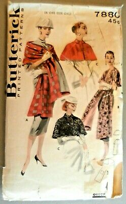 Butterick # 5729 Vtg Loose-fitting Caftan Pattern Sz 12 UC NO TRANSFERS