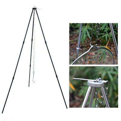 Foldable Grill Tripod Outdoor Camping Campfire Holder Picnic Cooking Pot Tool AU