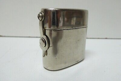 Antique Chrome Nickel Plated Metal Case Travel Bottle Ink - Scent Perfume