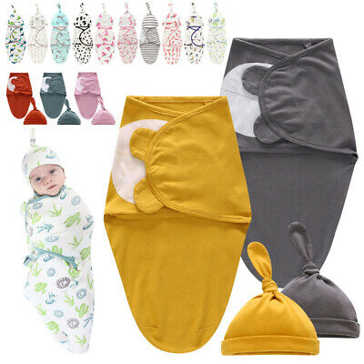 Useful Newborn Infant Baby Sleeping Bags Swaddle Blanket Baby Lovely Muslin Wrap
