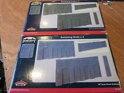 Two (2) Bachmann Scenecraft 44-225 Sets Of Retaining Walls