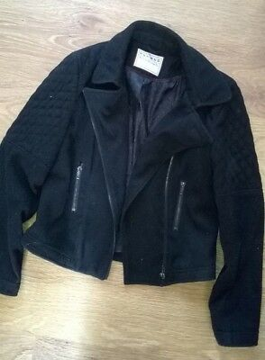 Nutmeg Black Girls Jacket Aged 12-13 Years