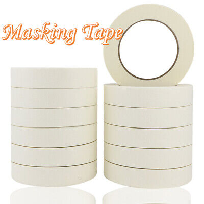 NEW MASKING TAPE INDOOR OUTDOOR DIY PAINTING DECORATING EASY TEAR 10-100MM x 50M