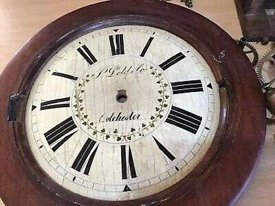 antique wall clock parts