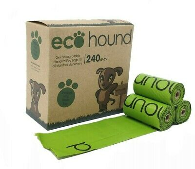 Ecohound ECO Dog Poo Bags OXO-Biodegradable Dog Waste Bags Standard- 240 BAGS!