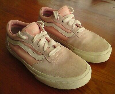 Pink Suede Vans Trainers Size 1 Eur 32