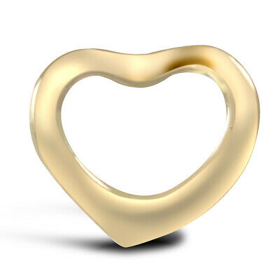 9ct 9k Yellow Gold Solid 9mm Love Heart Pendant Charm Engravable Small       cdh