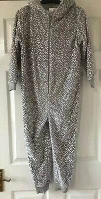 New Next Girls All In One Cosy Fleece Sleepsuit / Dressing Gown age 8 years  £19