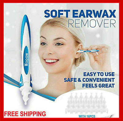 REGO Ear Wax Removal Tool,Ear Cleaning Device,q-Grips Ear Wax Remover with 16PCS