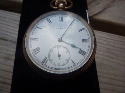 Elgin Usa Open Face Pocket Watch.- Movement Serial No 23587611- 1921- Working