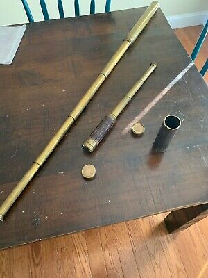 2 Vintage MARITIME TELESCOPE BRASS PIRATE SPYGLASS Nautical SCOPE Ship Captain