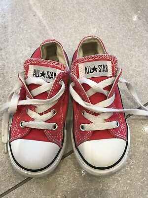 Girls Pink Converse Trainers Infant Size 9