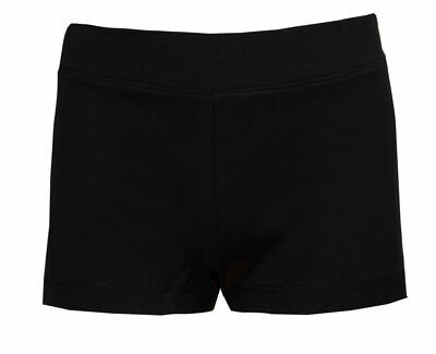 Childrens Cycle Shorts Girls Dance Exercise Sports Pants Stretch Black Age 6/7