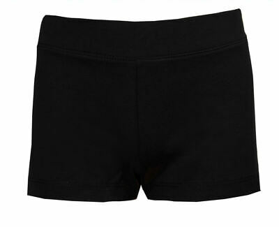 Childrens Cycle Shorts Girls Dance Exercise Sports Pants Stretch Black Age 10/11