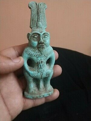 Rare Antique Ancient Egyptian Statue  Egyptian goddess Bess green Bc