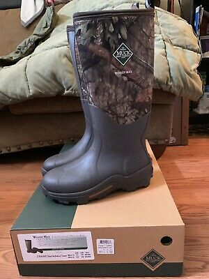 Muck Woody Max Cold Conditions Hunting Boot Mossy Oak men's sz 11. new in box