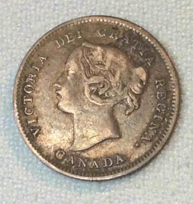 1901 5c Five Cent SILVER Canada Nice