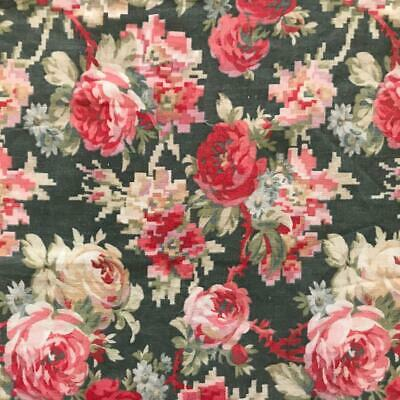 BEAUTIFUL LATE 19th CENTURY FRENCH PROVENCAL COTTON, ROSES 670