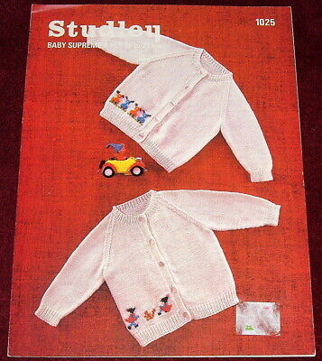 VINTAGE STUDLEY 4 PLY Knitting Pattern..TODDLERS CARDIGAN PIXIE OR DOG PATTERN