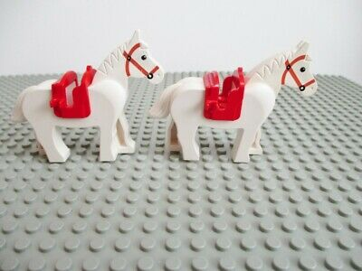 LEGO x 5 Pearl Gold Horse Saddle with Two Clips NEW 10235