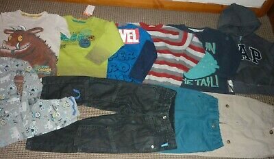 Bundle Boys Clothes age 4-5yrs Fat Face Gruffalo Marvel Tops Jeans Hoodie PJ's