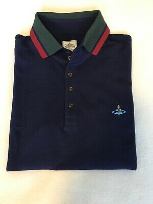 Mens Polo Navy Vivenne Westward XL , Short Sleeved