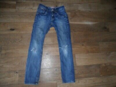 ** VINGIND ** BOYS MED BLUE SKINNY JEAN SIZE 10 YEARS with AJ/WAIST RIPPED KNEES